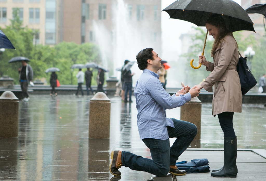 marriage proposal in NYC – photo 1