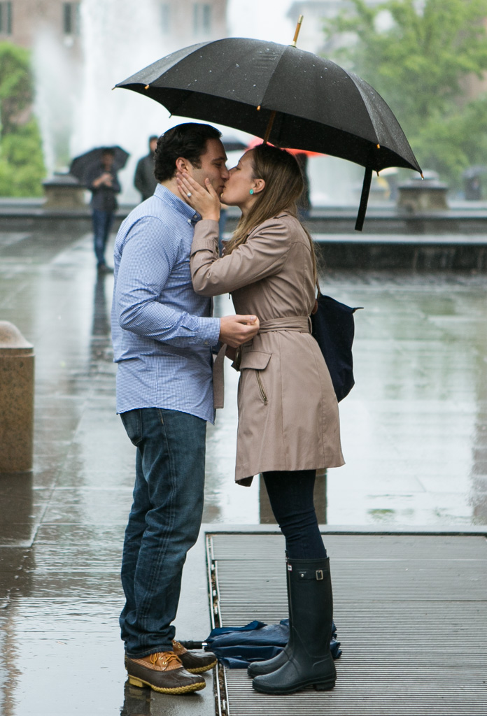 Photo 7 Rainy Washington Sq. Park Propose | VladLeto