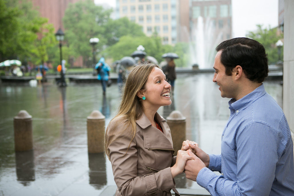 Photo 11 Rainy Washington Sq. Park Propose | VladLeto