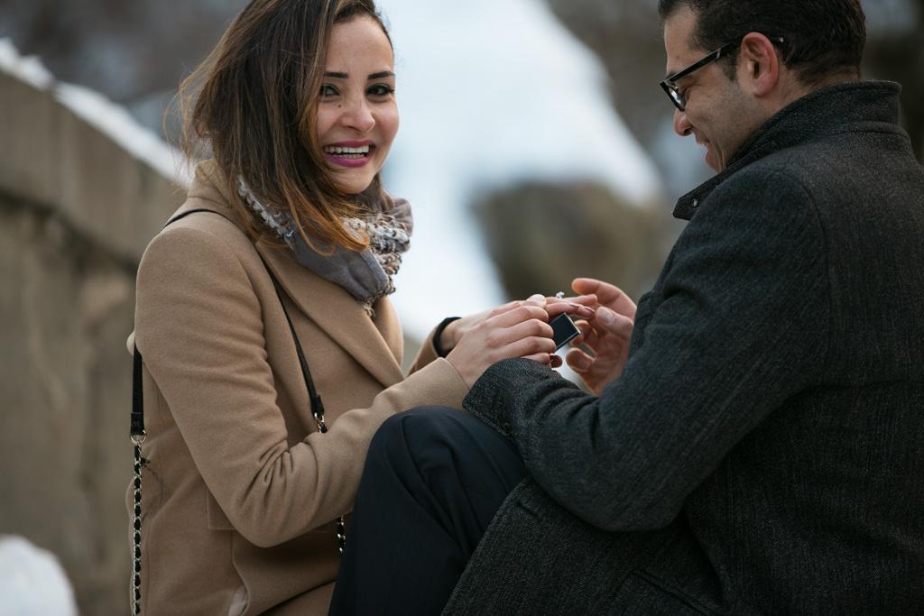 Photo 2 Valentine's Day Proposal at the Gapstow Bridge in Central Park | VladLeto