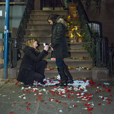 Photo Marriage Proposal at front Carrie Bradshaw House from Sex and the City(64 Perry St in Manhattan