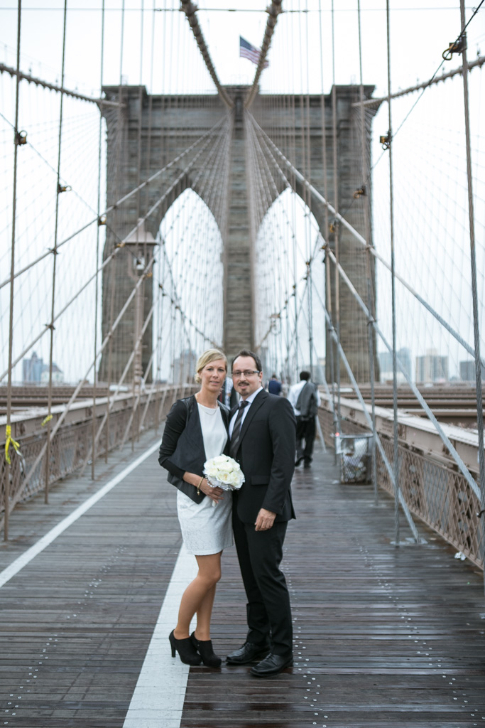 Photo 9 City Hall Wedding Brooklyn Bridge | VladLeto