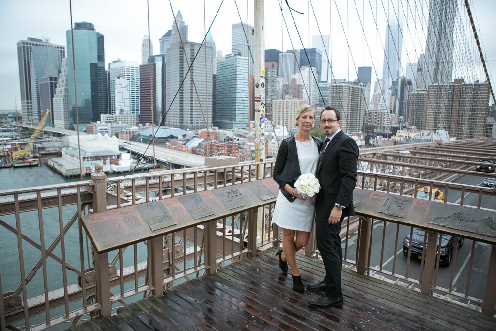 Photo 10 City Hall Wedding Brooklyn Bridge | VladLeto