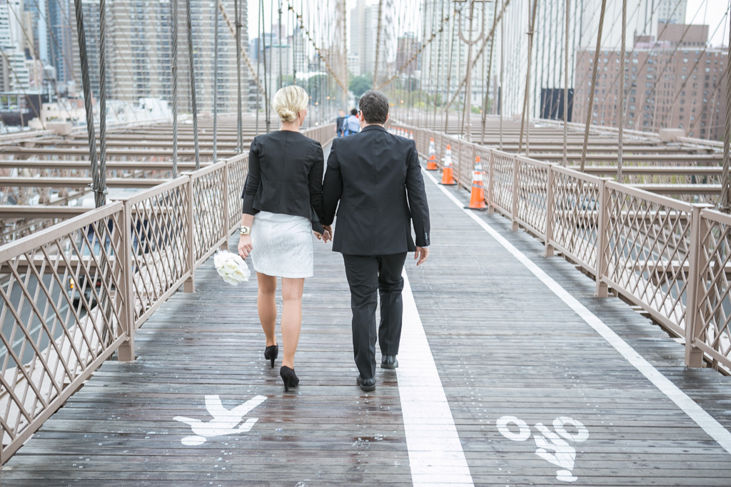 Photo 12 City Hall Wedding Brooklyn Bridge | VladLeto