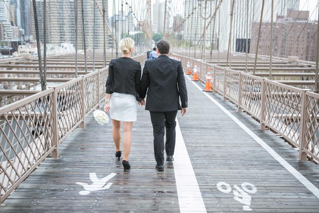 Photo 11 City Hall Wedding Brooklyn Bridge | VladLeto