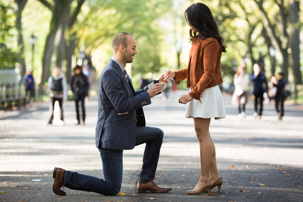 Marriage Proposal at the Mall at Central Park]– photo[1]
