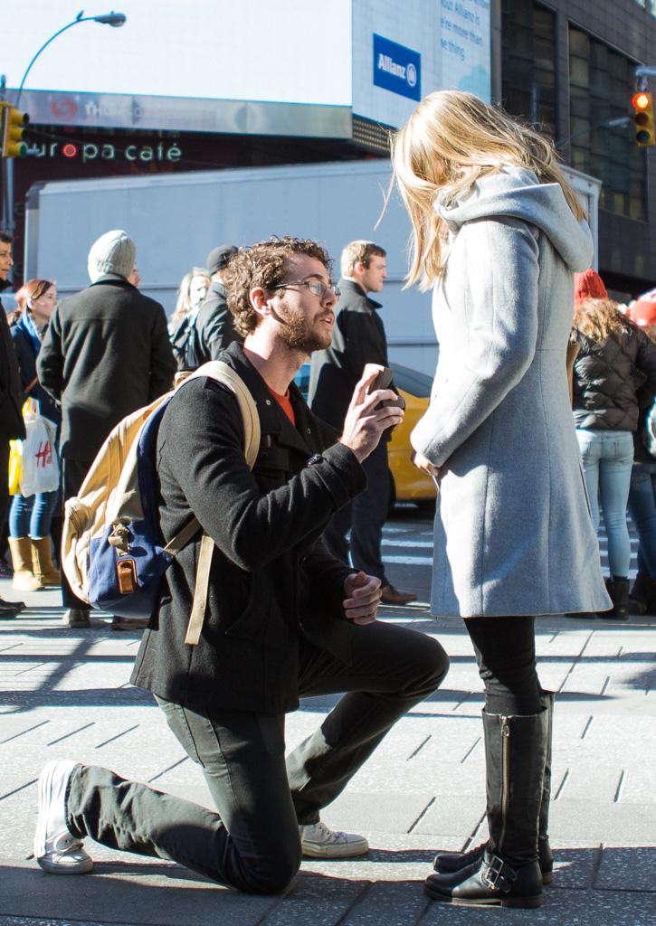Photo 3 New York Times square secret proposal   VladLeto