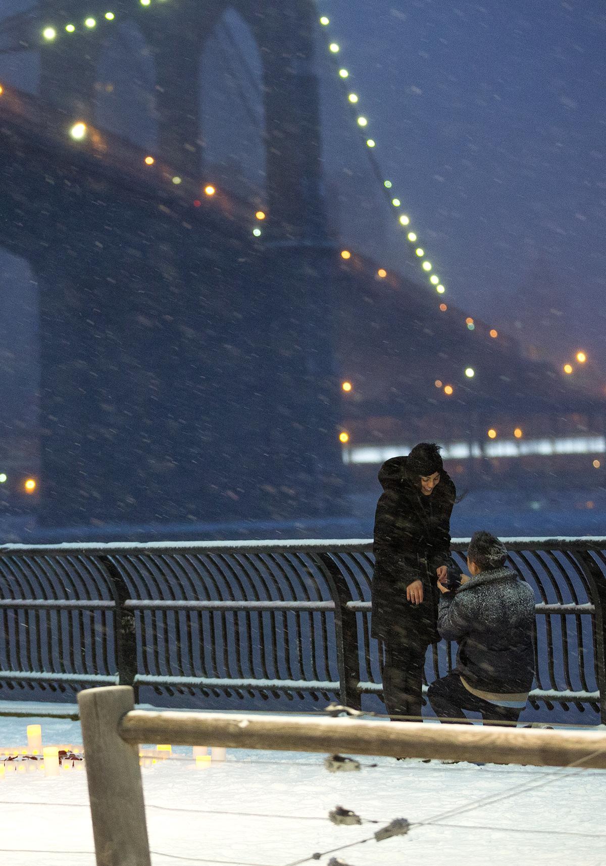"Photo 5 Surprise proposal story ""Snowy Night""   VladLeto"