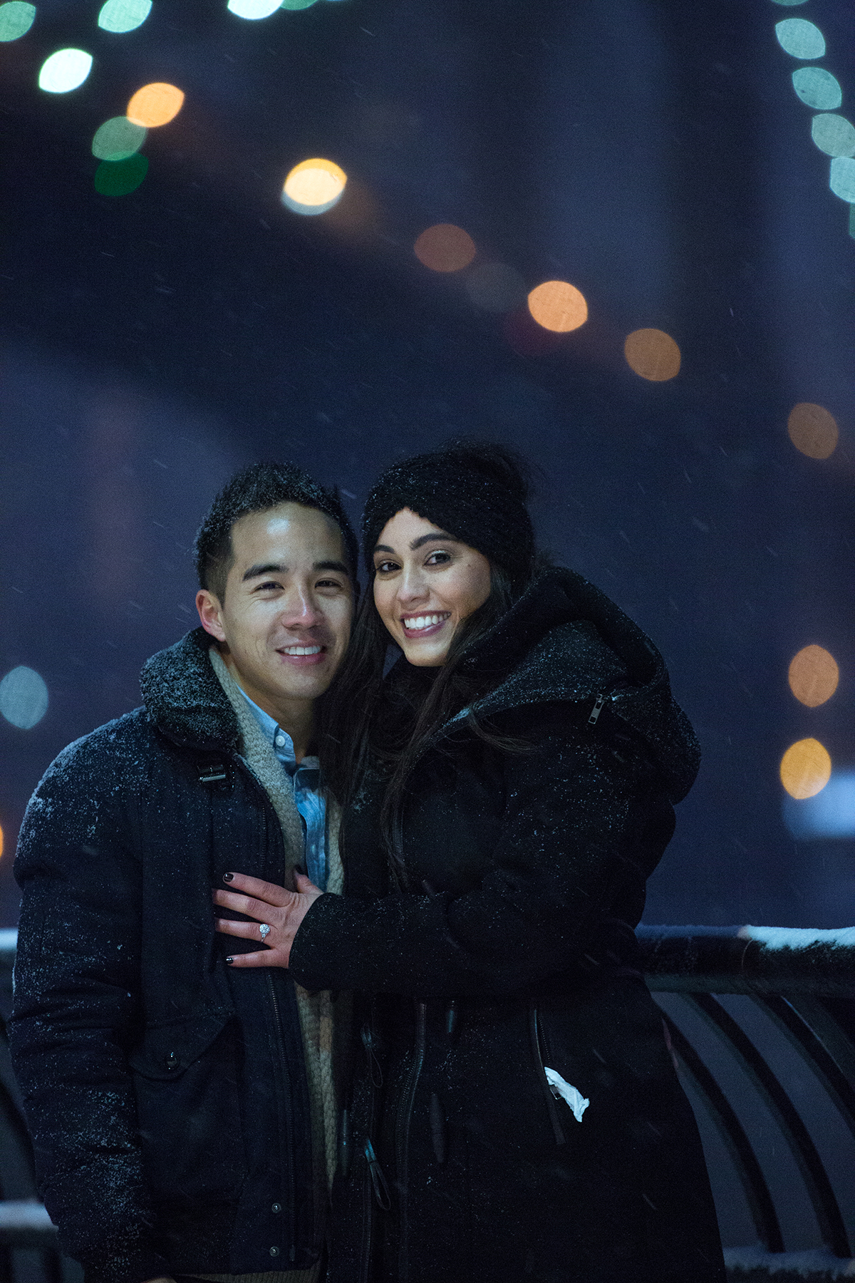 "Photo 15 Surprise proposal story ""Snowy Night"" 