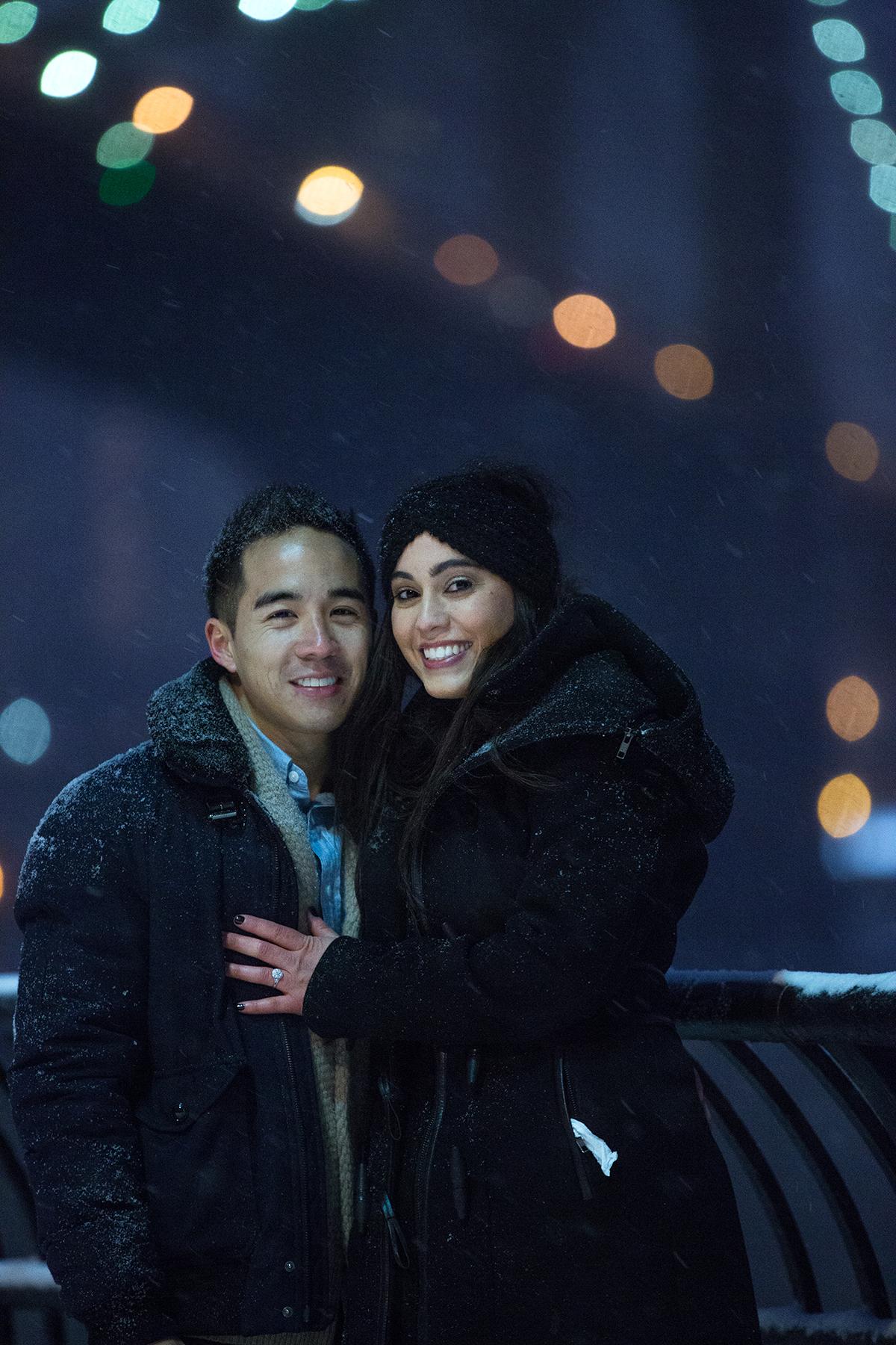"Photo 8 Surprise proposal story ""Snowy Night""   VladLeto"