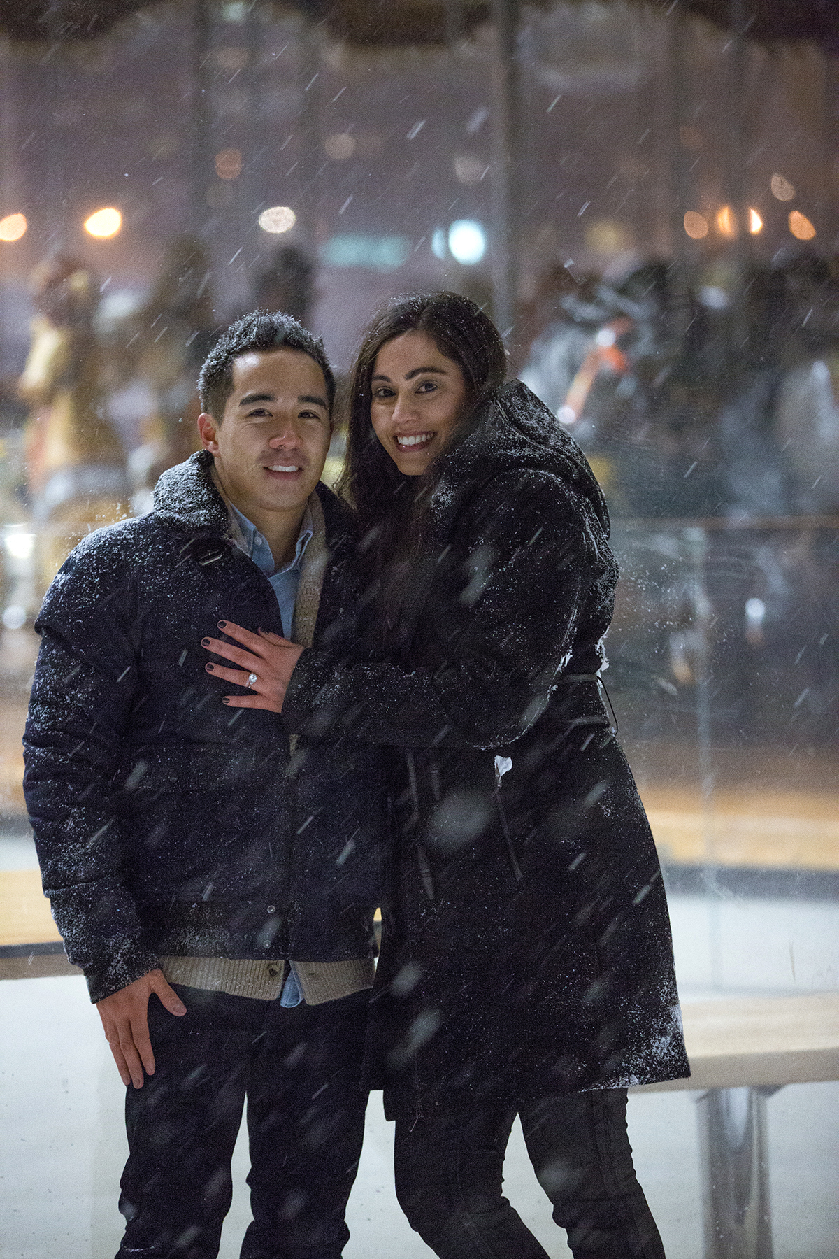 "Photo 12 Surprise proposal story ""Snowy Night"" 