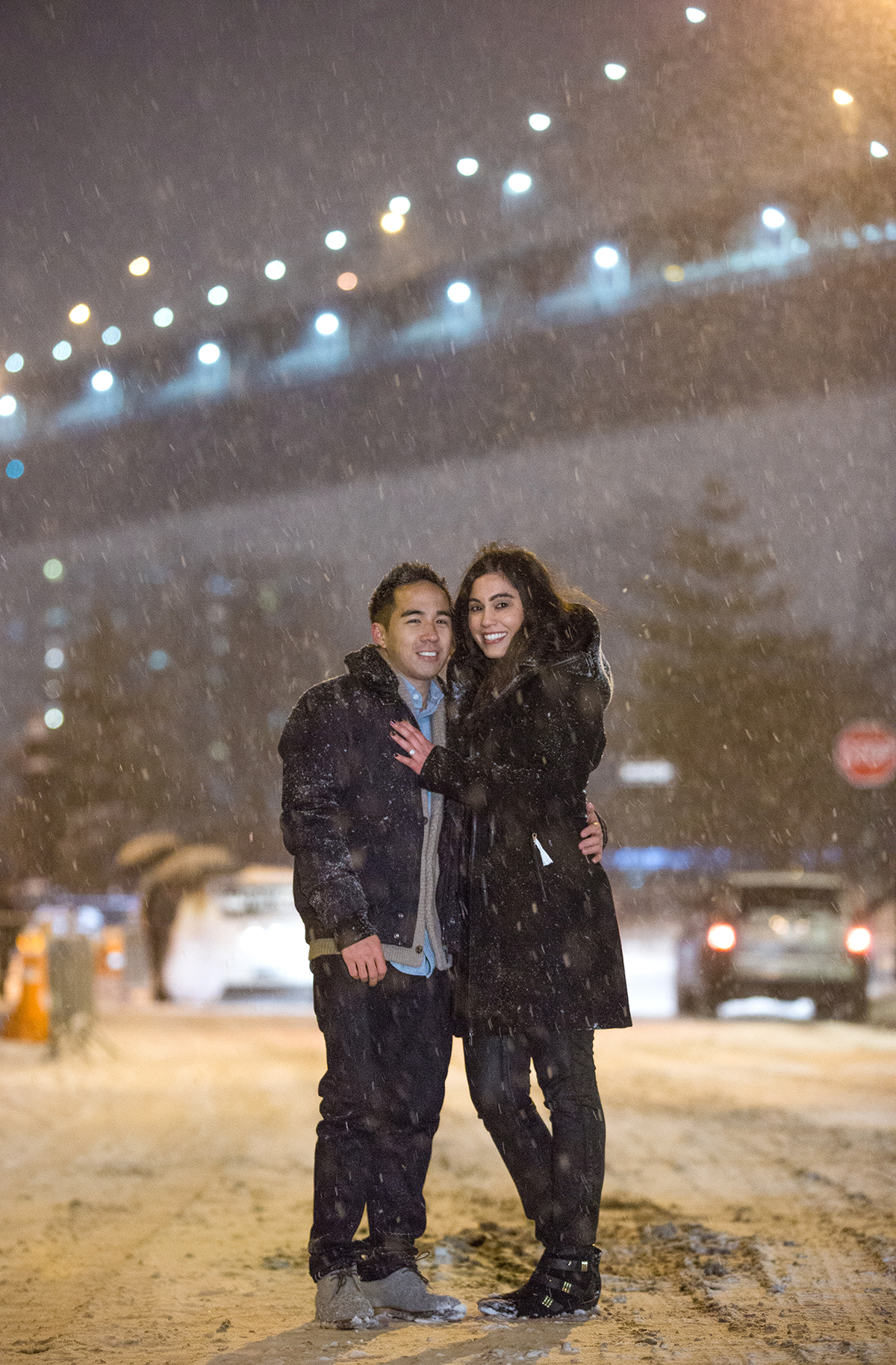 "Photo 25 Surprise proposal story ""Snowy Night"" 