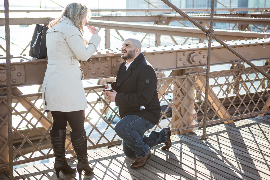 Photo Marriage proposal at Brooklyn bridge | VladLeto