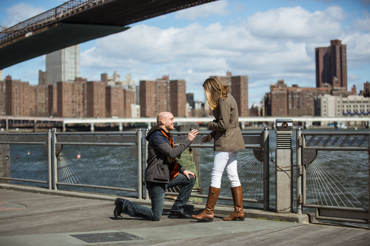 Photo 9 Marriage proposal at Brooklyn Bridge Park | VladLeto