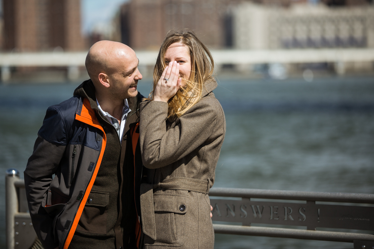 Photo 15 Marriage proposal at Brooklyn Bridge Park | VladLeto
