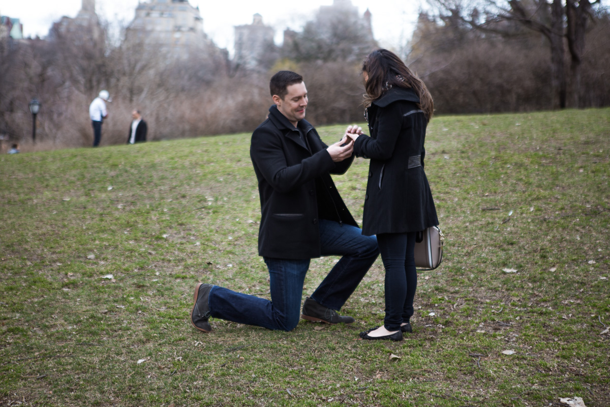 Photo 3 Secret Proposal near Bow bridge, Central Park | VladLeto