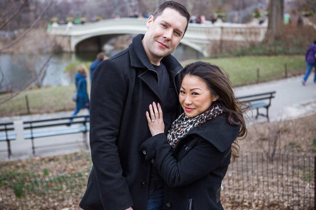 Photo 3 Secret Proposal near Bow bridge, Central Park | VladLeto