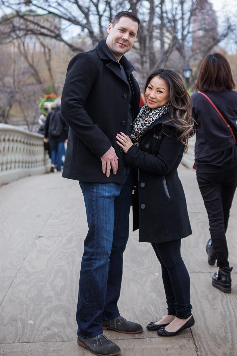 Photo 4 Secret Proposal near Bow bridge, Central Park | VladLeto
