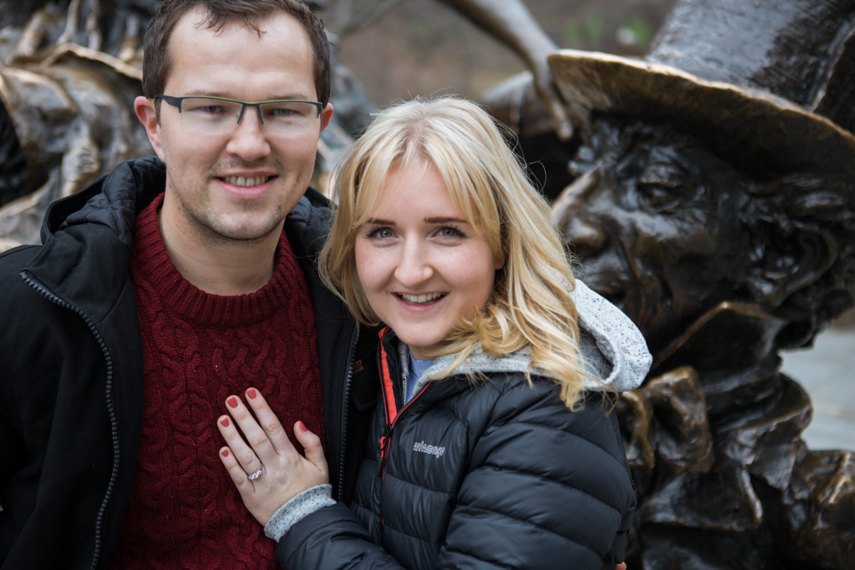Photo 9 Surprise wedding proposal by Alice in Wonderland statue in Central Park. | VladLeto