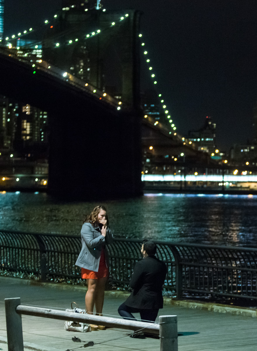 Photo 3 Surprise Proposal by Brooklyn Bridge. | VladLeto