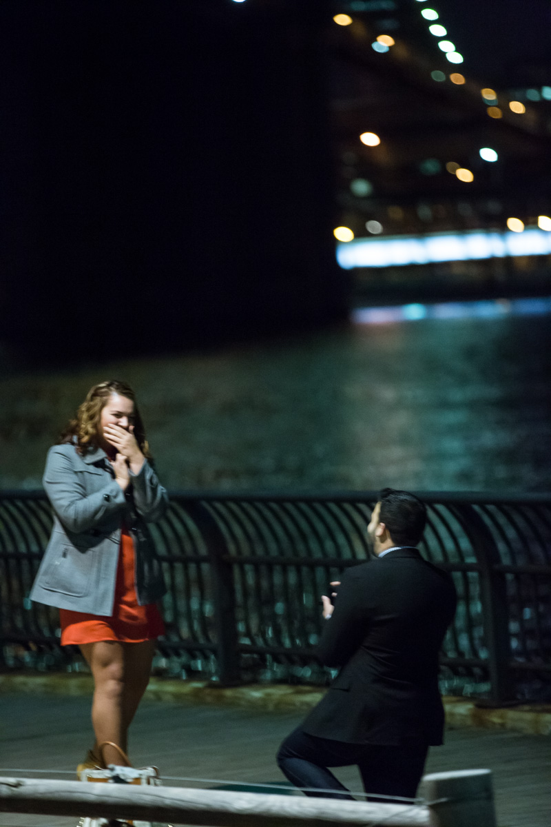 Photo 4 Surprise Proposal by Brooklyn Bridge. | VladLeto
