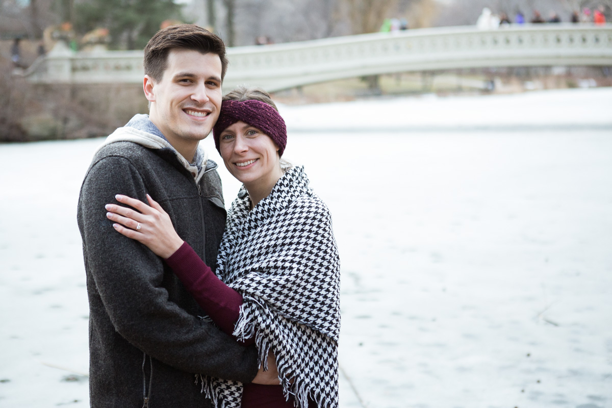 Bow bridge Central Park surprise proposal]– photo[5]