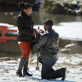 Photo Surprise Proposal by Gapstow Bridge | VladLeto
