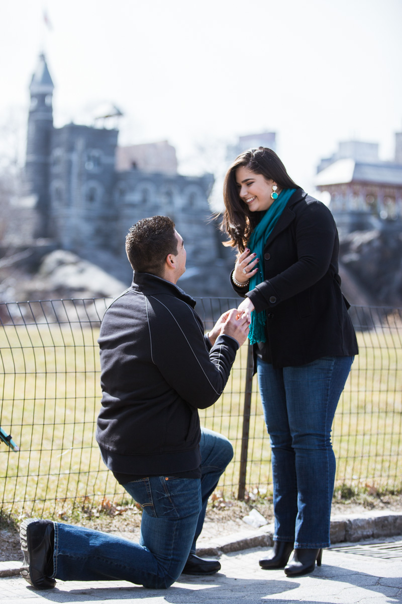 [Secret proposal in Central Park by Belvedere Castle]– photo[1]