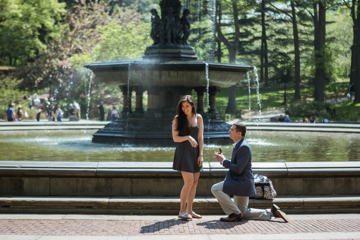 Photo Bethesda fountain Central park Proposal | VladLeto