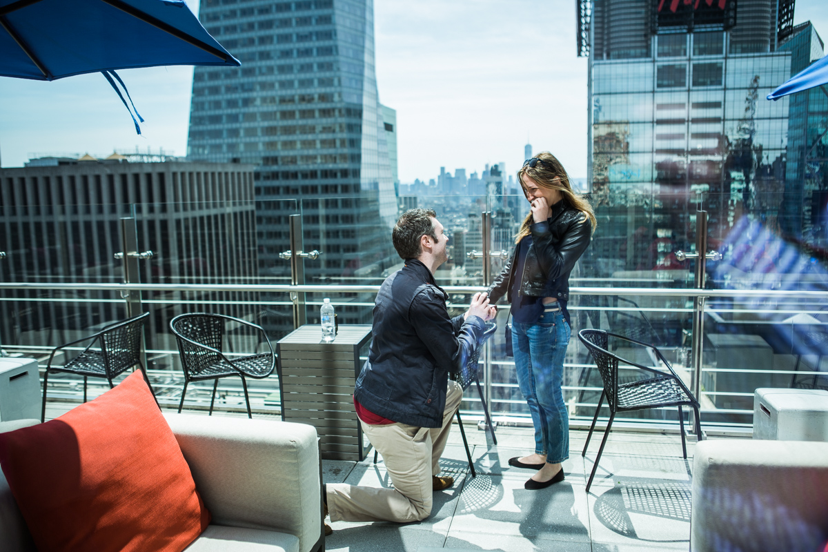 Photo 2 Marriage proposal at roof top of Hayt Times square. | VladLeto