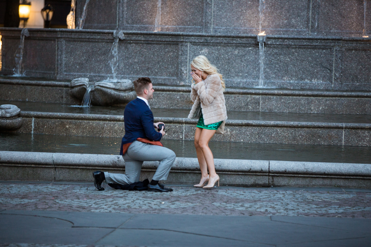 Photo Marriage Proposal by Plaza Hotel | VladLeto