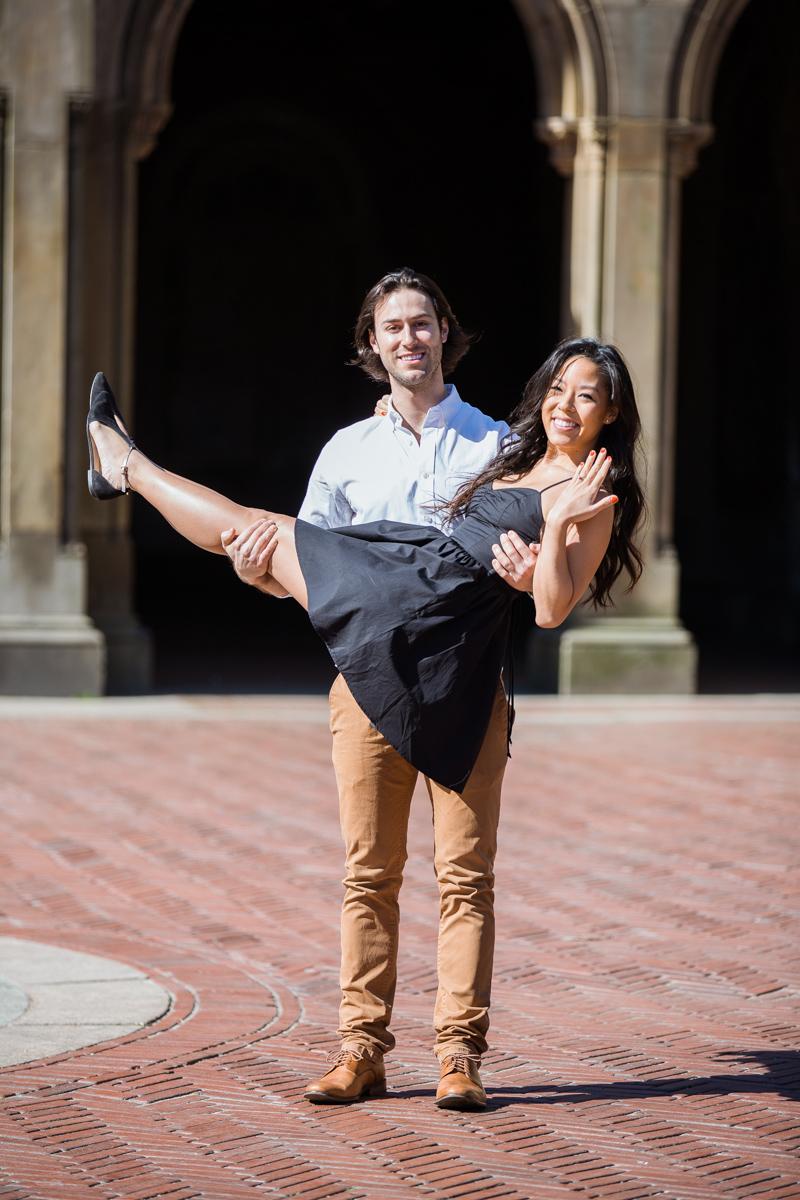 Photo 15 Bethesda Fountain marriage proposal | VladLeto