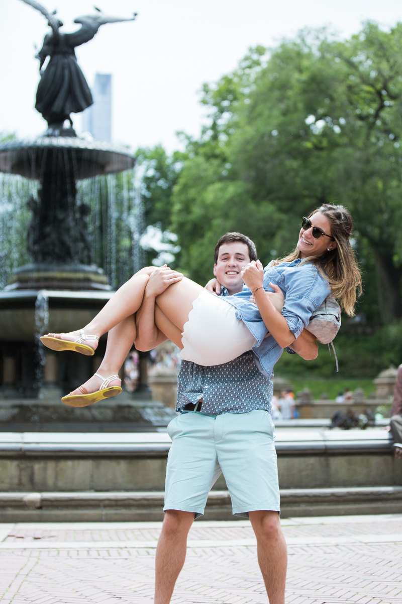 Photo 9 Marriage Proposal by Bethesda Fountain in Central Park | VladLeto