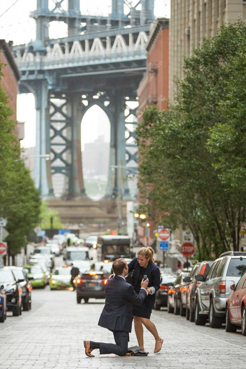 Photo 2 Secret Proposal in Dumbo, Brooklyn | VladLeto