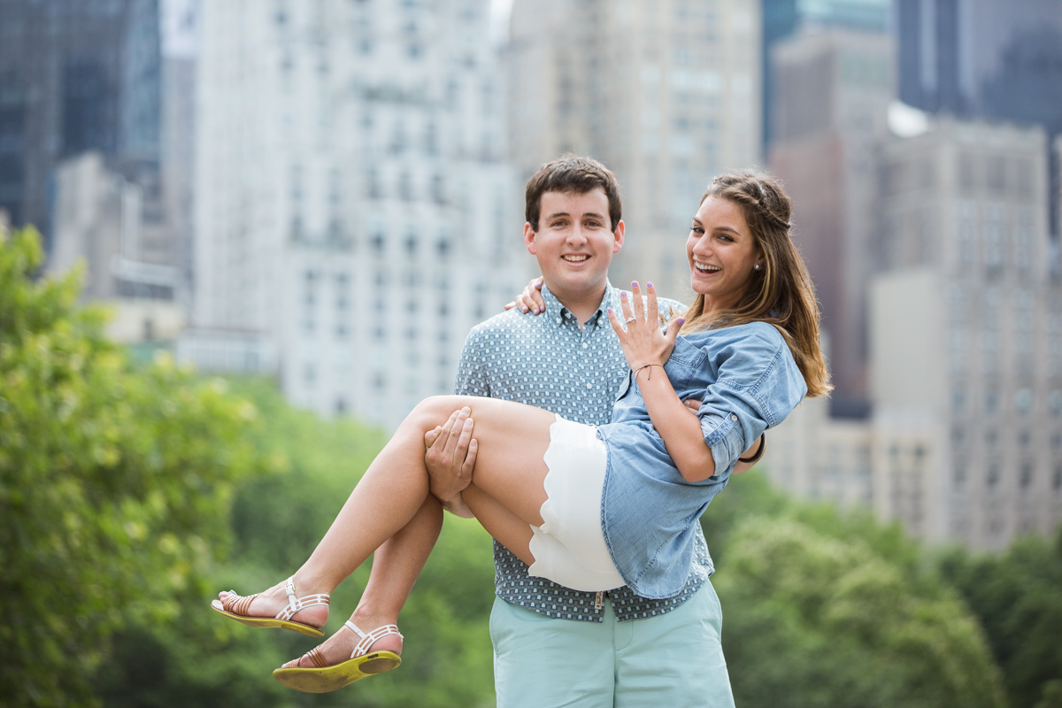 Photo 10 Marriage Proposal by Bethesda Fountain in Central Park | VladLeto