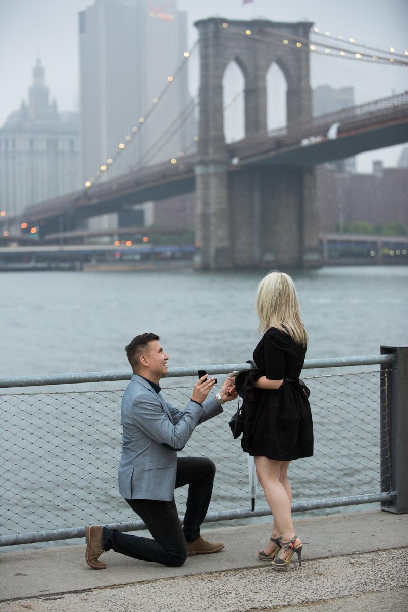 Photo 4 marriage proposal by Brookyn Bridge   VladLeto