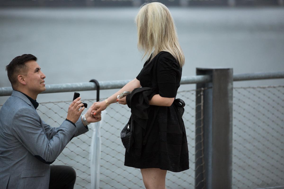 Photo 3 marriage proposal by Brookyn Bridge   VladLeto