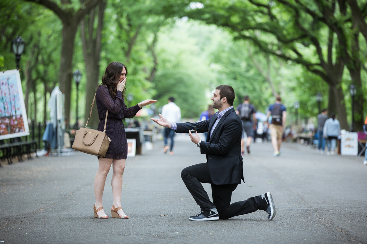 Photo 3 Secret marriage proposal in The Mall, Central Park | VladLeto