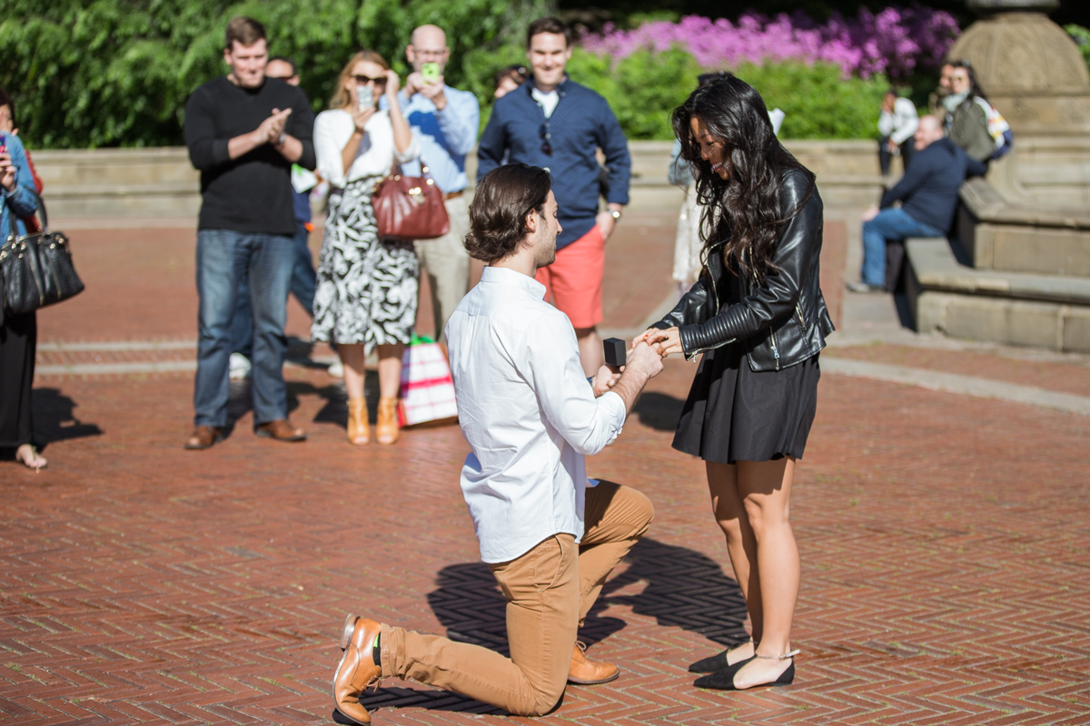 Photo 2 Bethesda Fountain marriage proposal | VladLeto
