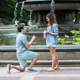 Photo Marriage Proposal by Bethesda Fountain in Central Park | VladLeto