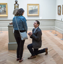 Photo Metropolitan Museum of Art marriage proposal | VladLeto