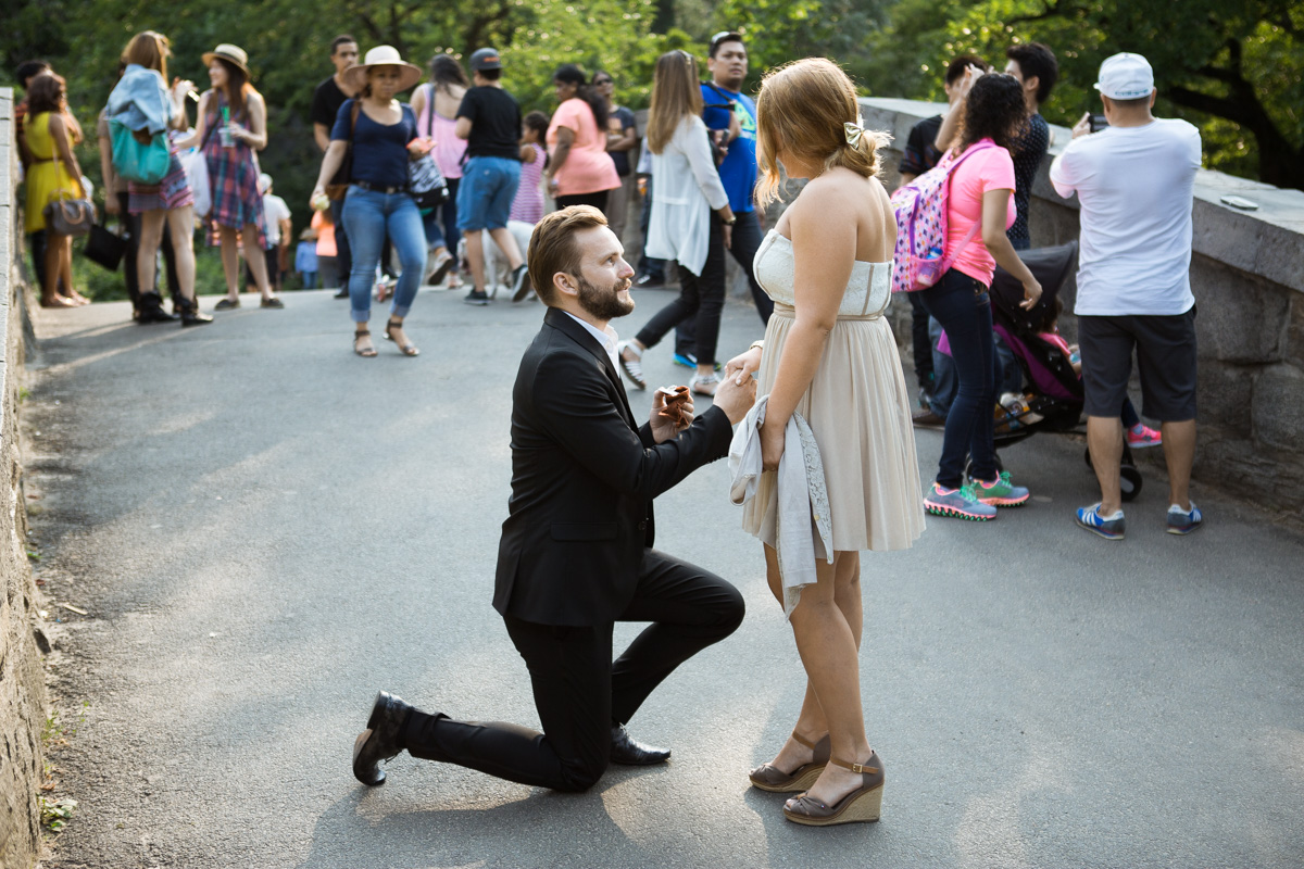 Photo 2 Gapstow Bridge marriage proposal in Central Park | VladLeto
