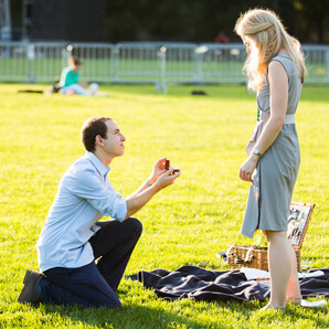 Photo Central Park marriage proposal