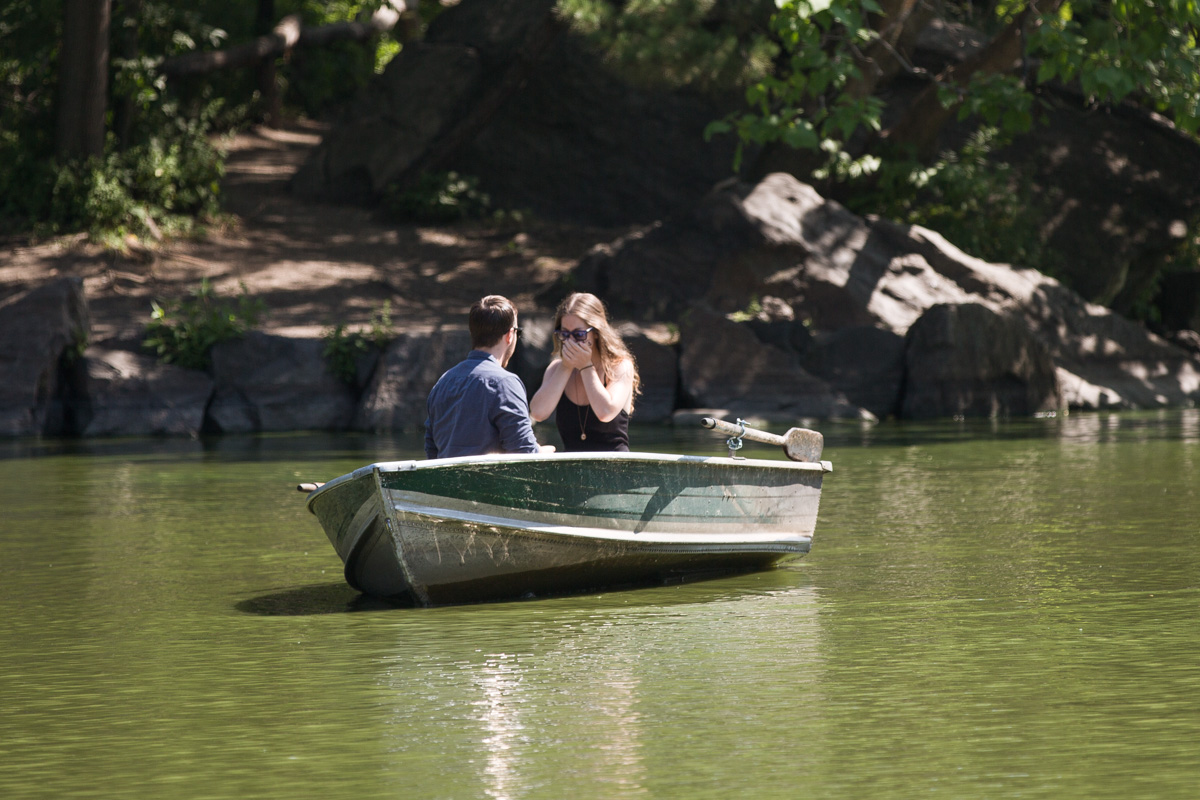 Photo 3 Central Park Marriage Proposal on a raw boat   VladLeto