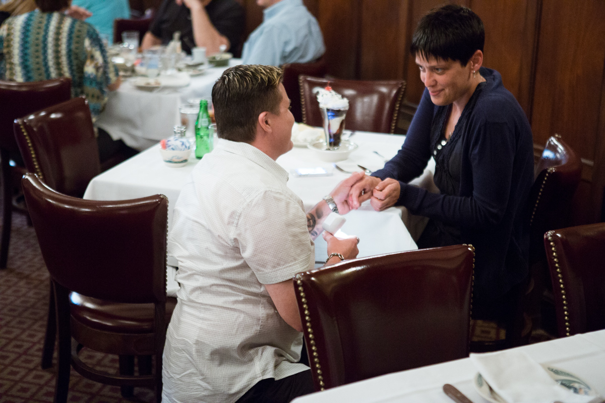 [Proposal at Peter Lugers Steakhouse]– photo[1]