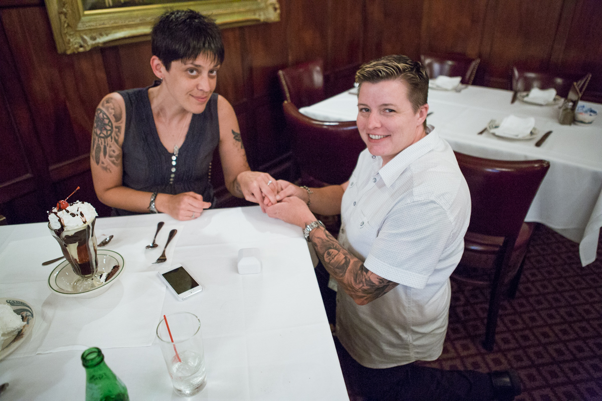 Photo 3 Proposal at Peter Lugers Steakhouse.   VladLeto