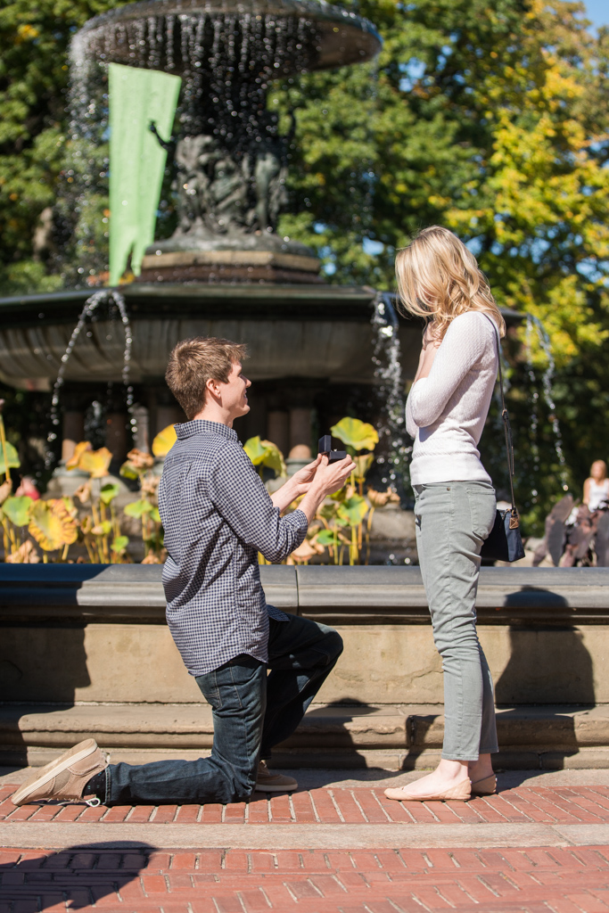 Photo 3 Central Park marriage proposal by Bethesda Fountain. | VladLeto