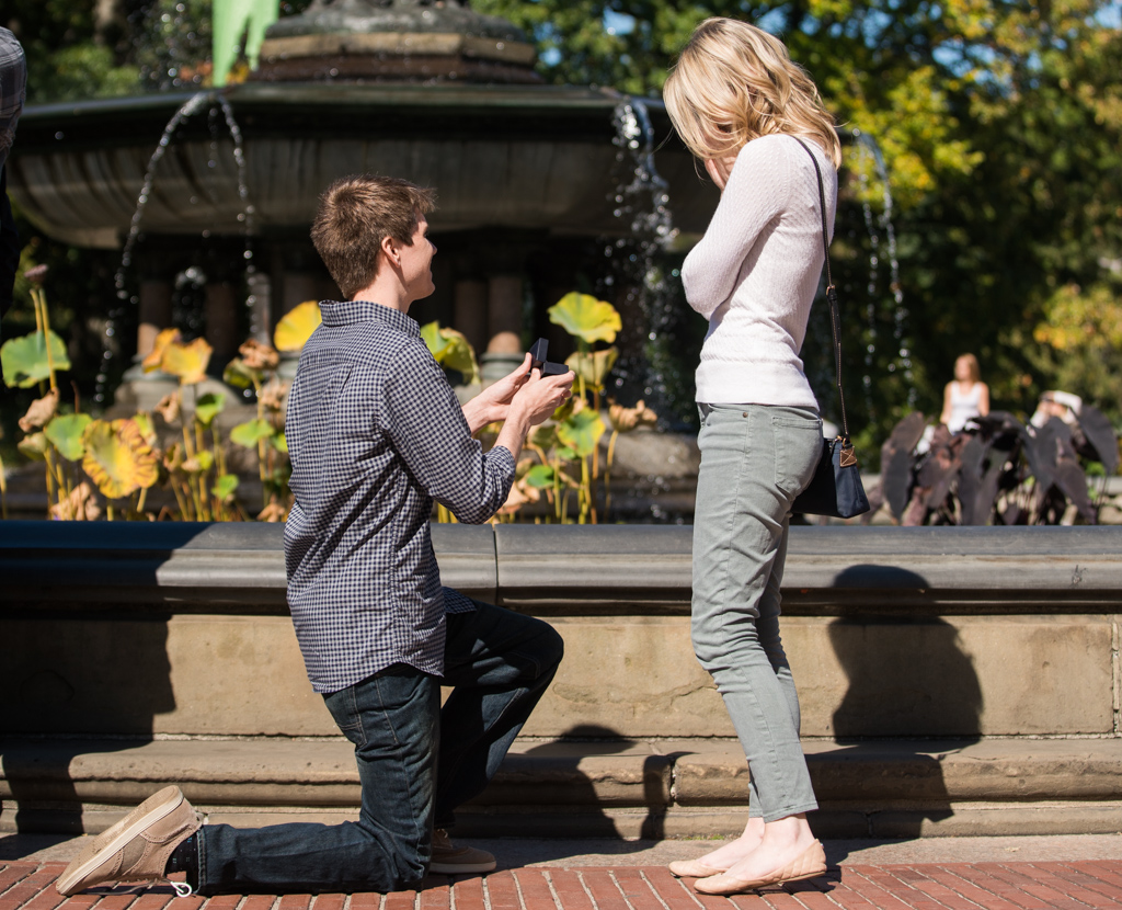 Photo 2 Central Park marriage proposal by Bethesda Fountain. | VladLeto