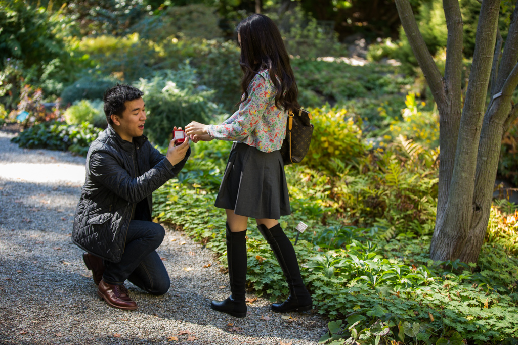Photo Surprise Proposal at New York Botanical Garden | VladLeto