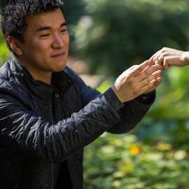 Photo Surprise Proposal at New York Botanical Garden | VladLeto
